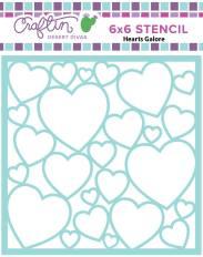 Hearts Galore Stencil