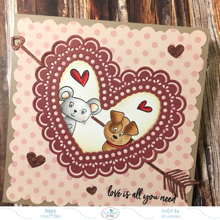 EK Gorman Elizabeth Craft Designs Valentine a