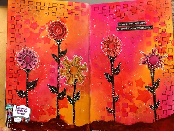 EK Gorman Oddball Art Journal a