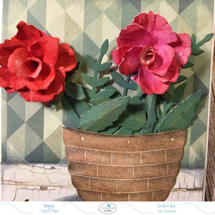 EK Gorman, Elizabeth Craft Designs, Susan's Garden Rose 3 e