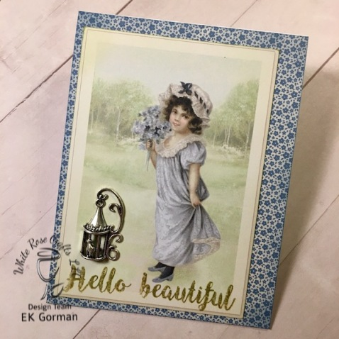 EK Gorman, White Rose Crafts, April Card Kit a
