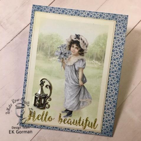 EK Gorman, White Rose Crafts, April Card Kit a