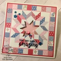 EK Gorman, White Rose Crafts, April Card Kit c