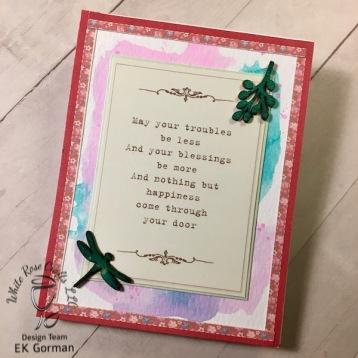 EK Gorman, White Rose Crafts, April Card Kit d