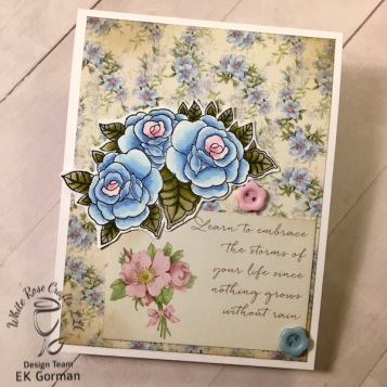 EK Gorman, White Rose Crafts, April Card Kit e