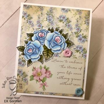 EK Gorman, White Rose Crafts, April Card Kit e
