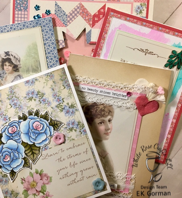 EK Gorman, White Rose Crafts, April Card Kit f