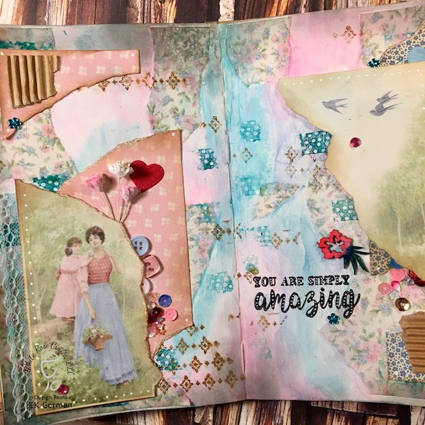 EK Gorman, White Rose Crafts Art Journal Page a