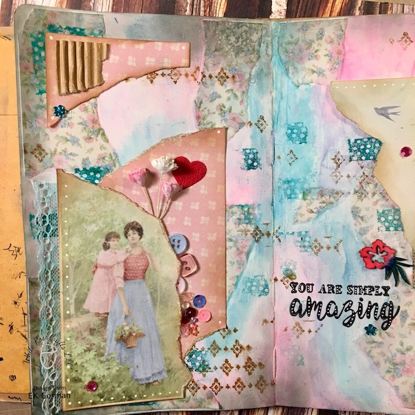 EK Gorman, White Rose Crafts Art Journal Page b