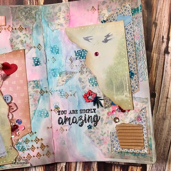 EK Gorman, White Rose Crafts Art Journal Page c