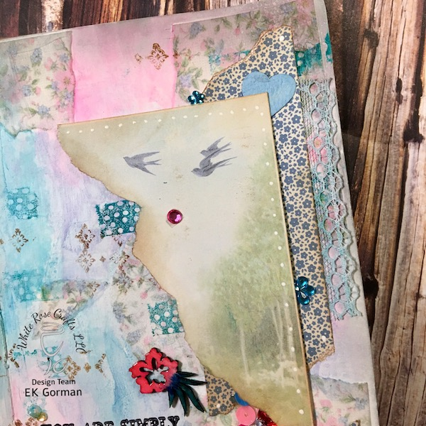 EK Gorman, White Rose Crafts Art Journal Page e
