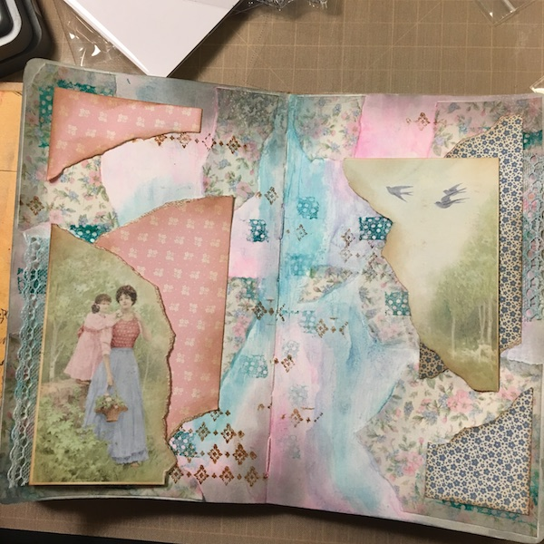 EK Gorman, White Rose Crafts Art Journal Page r