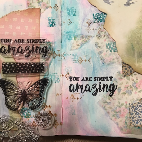 EK Gorman, White Rose Crafts Art Journal Page s