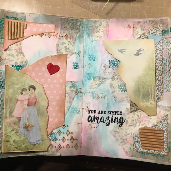 EK Gorman, White Rose Crafts Art Journal Page t