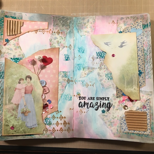 EK Gorman, White Rose Crafts Art Journal Page u