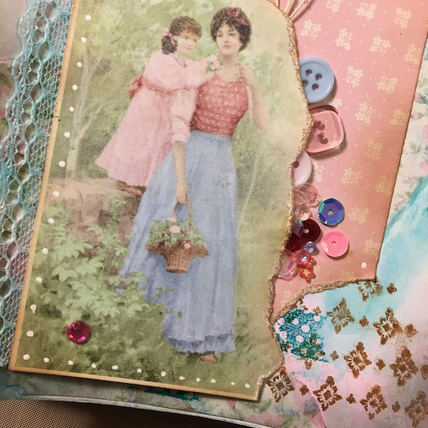 EK Gorman, White Rose Crafts Art Journal Page y