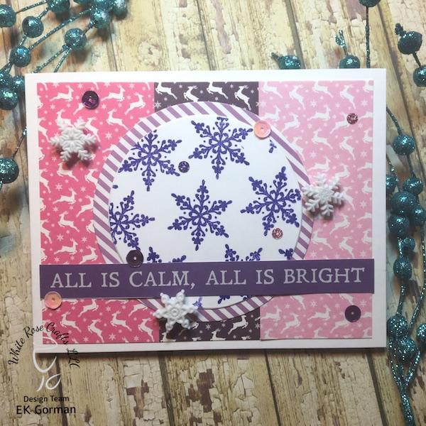 EK Gorman, White Rose Crafts, December Subscription Kit a