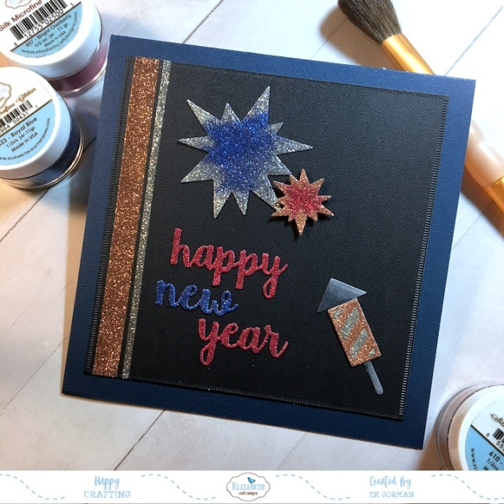 EK Gorman, Elizabeth Craft Designs, Happy New Year a
