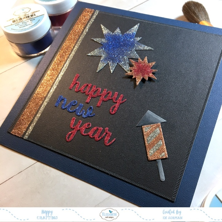 EK Gorman, Elizabeth Craft Designs, Happy New Year b