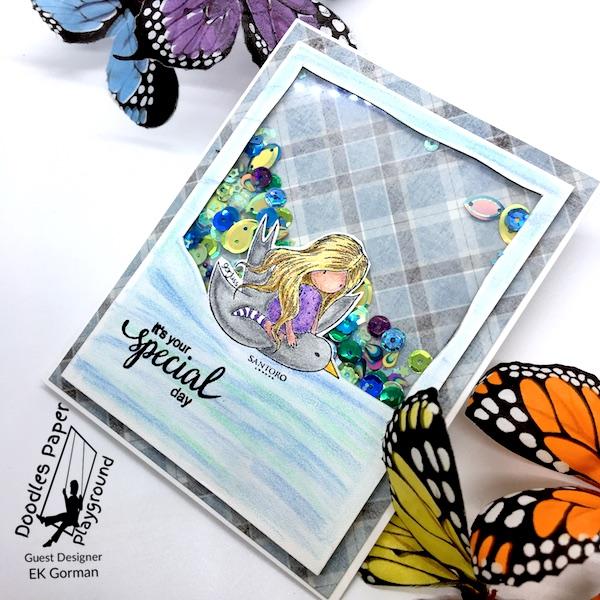 EK Gorman, Doodles Paper Playgournd, Peacock Pizzazz b