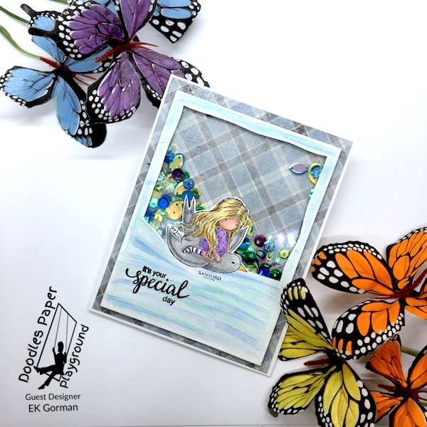 EK Gorman, Doodles Paper Playgournd, Peacock Pizzazz c