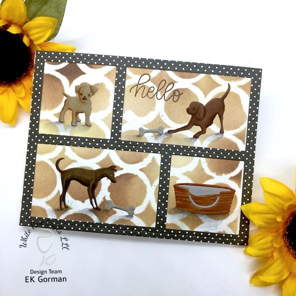 EK Gorman, White Rose Crafts, Doggie card a