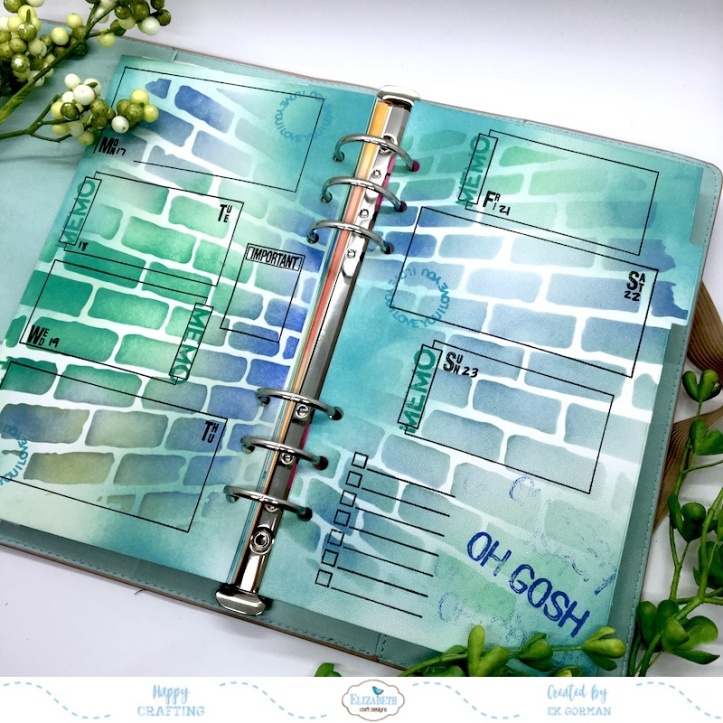 EK Gorman, Elizabeth Craft Designs June planner d
