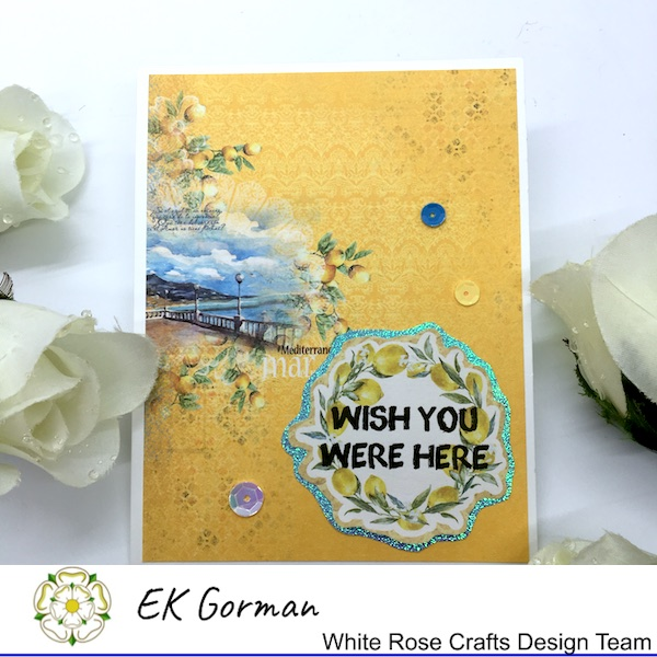 EK Gorman, White Rose Crafts, Mediterranean Dreams 5FC 1 a