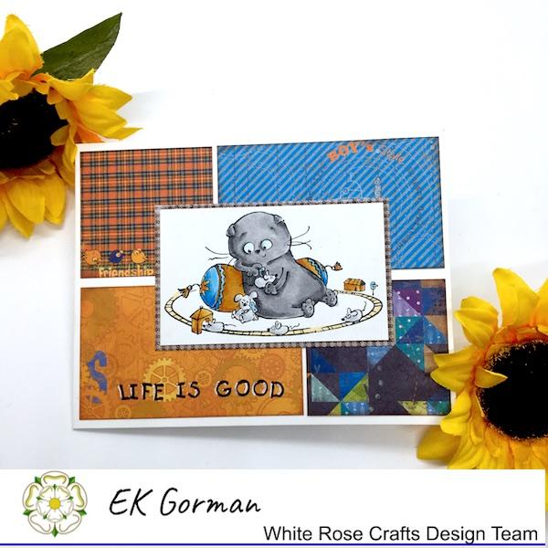 EK Gorman, White Rose Crafts ScrapBerry card a