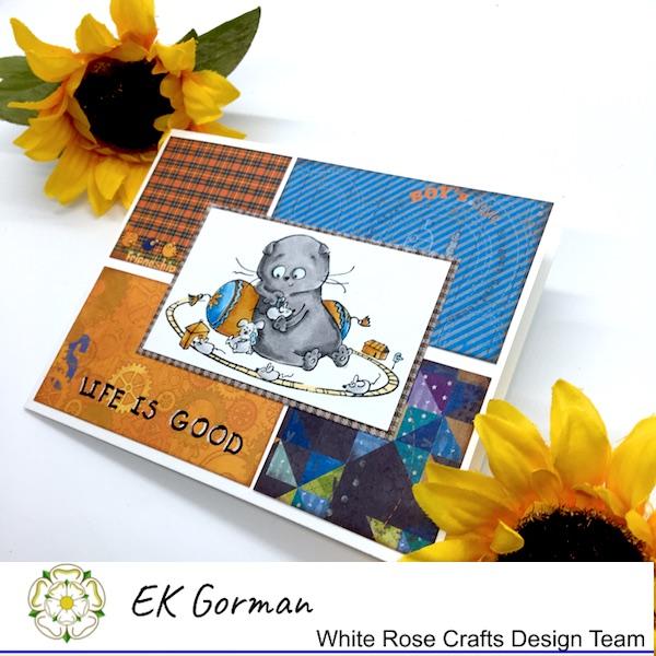 EK Gorman, White Rose Crafts ScrapBerry card b