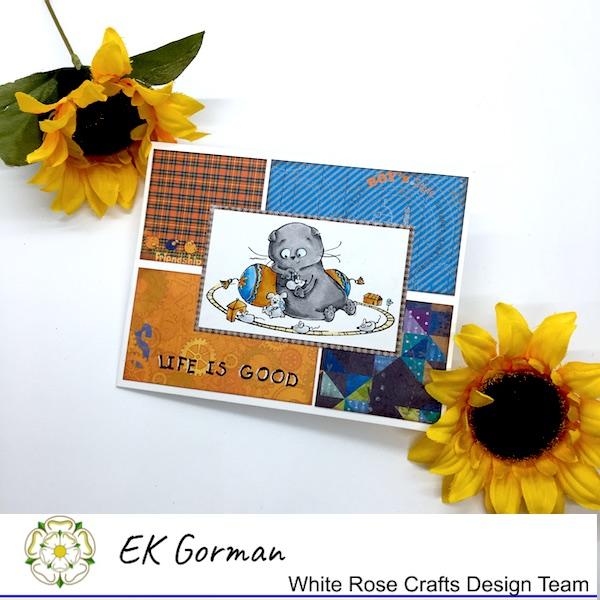 EK Gorman, White Rose Crafts ScrapBerry card c