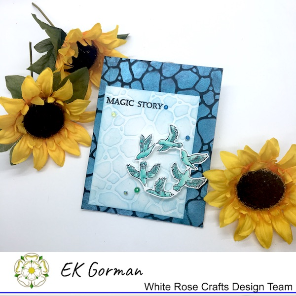 EK Gorman, White Rose Crafts stencil embossing d