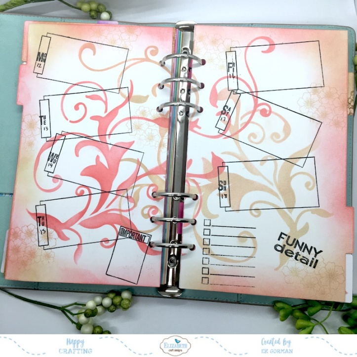 EK Gorman, Elizabeth Craft, August Planner d
