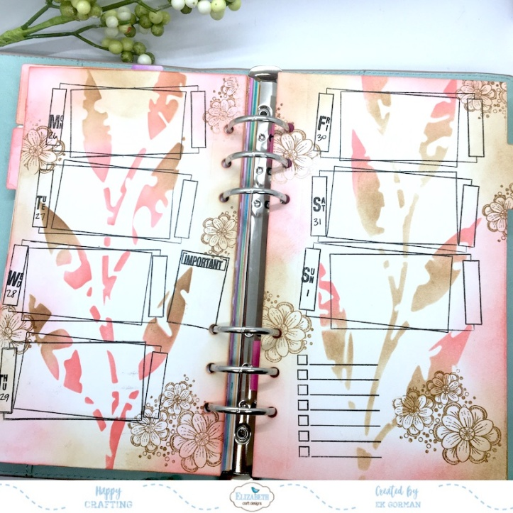EK Gorman, Elizabeth Craft, August Planner f