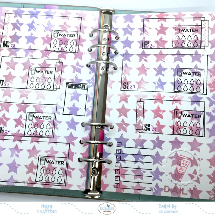 EK Gorman, Elizabeth Craft Designs July Panner page f