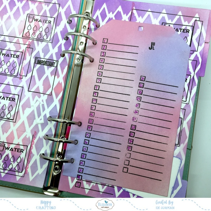 EK Gorman, Elizabeth Craft Designs July Panner page k