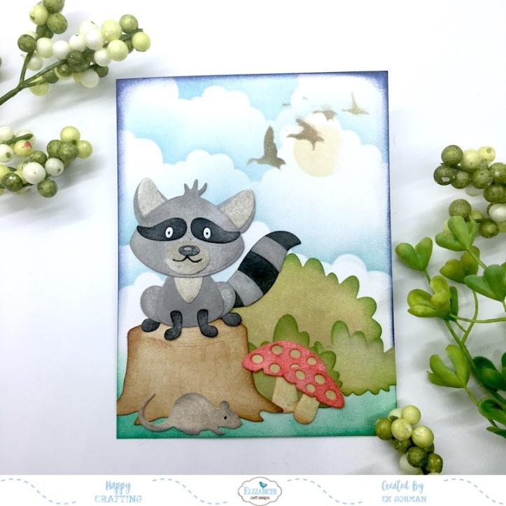 EK Gorman, Elizabeth Craft Designs, Raccoon a