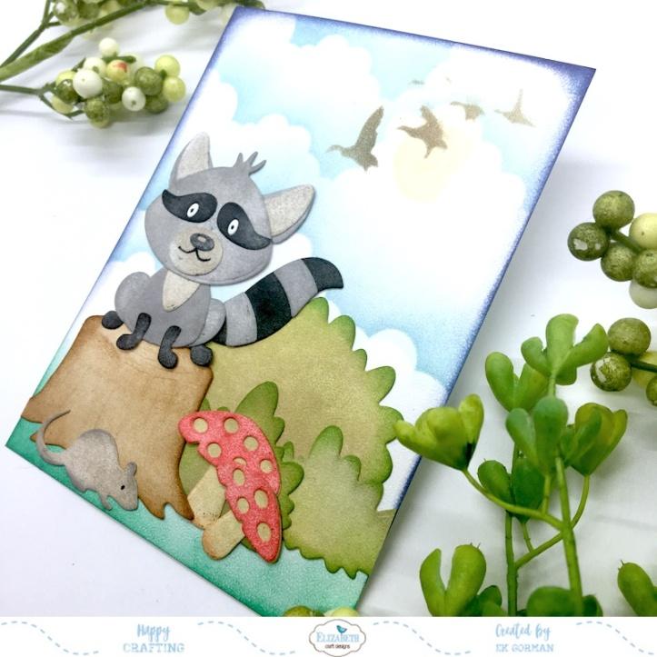 EK Gorman, Elizabeth Craft Designs, Raccoon b