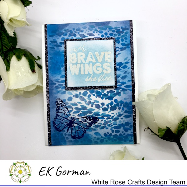 EK Gorman, White Rose Crafts, embossing a