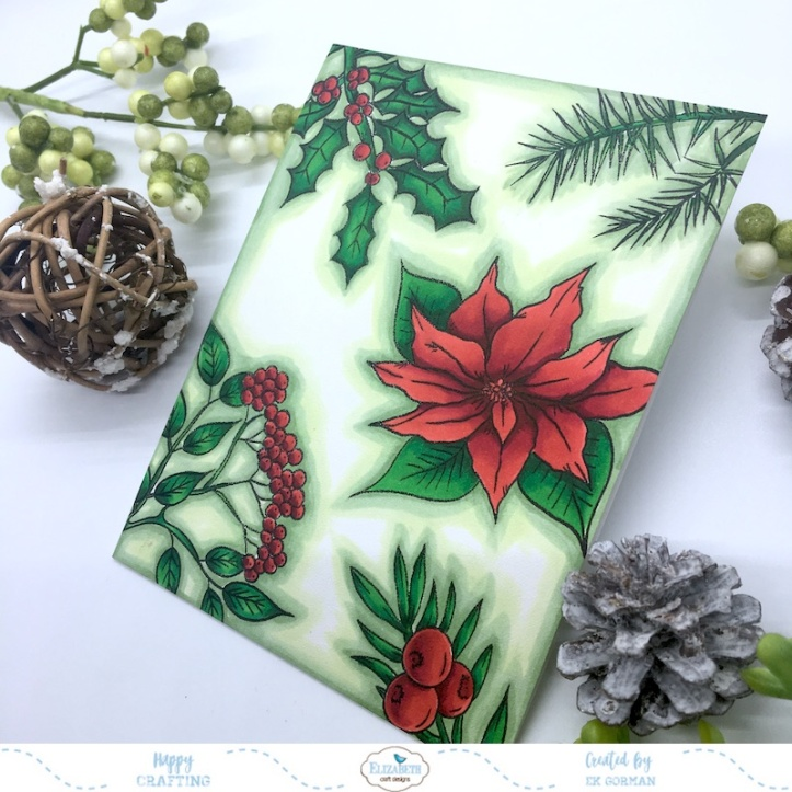 EK Gorman, Elizabeth Craft Designs Christmas Flower b