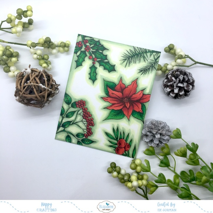 EK Gorman, Elizabeth Craft Designs Christmas Flower c