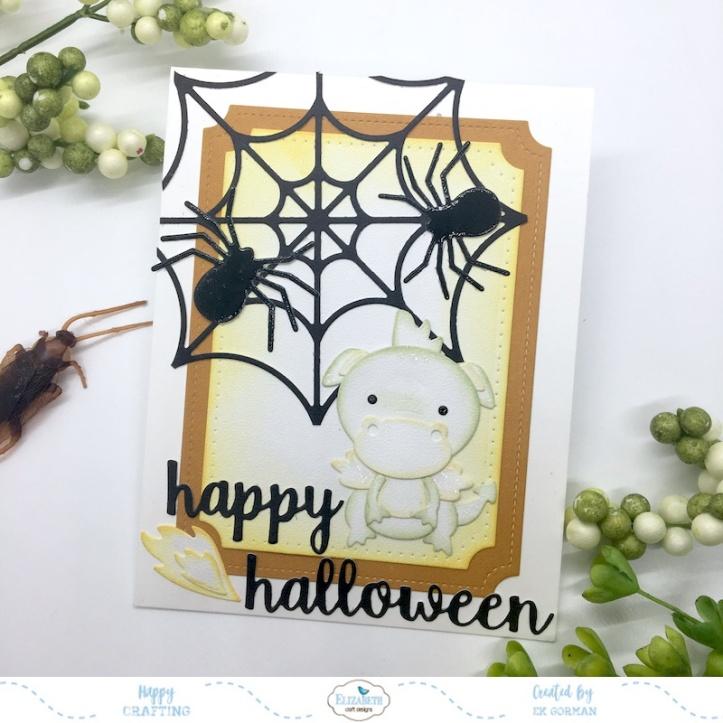EK Gorman, Elizabeth Craft Designs Halloween Dragon a
