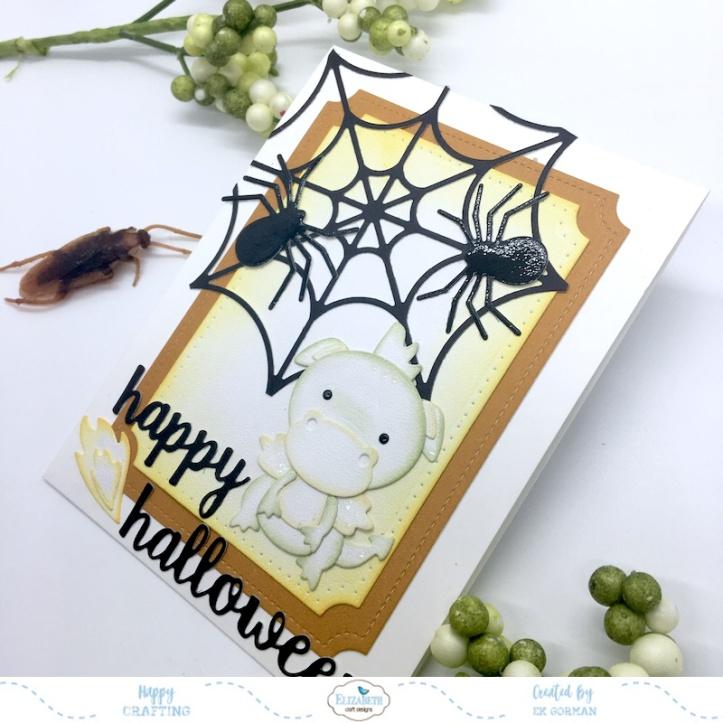 EK Gorman, Elizabeth Craft Designs Halloween Dragon b