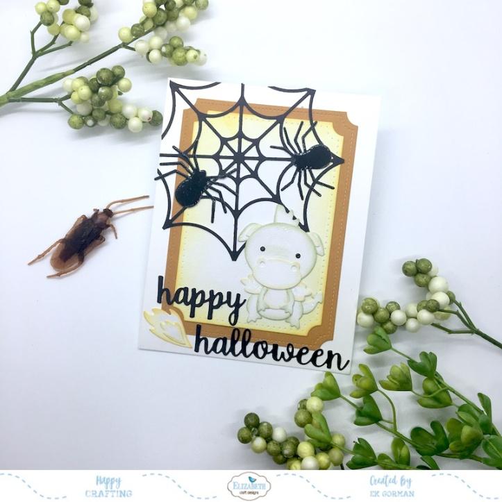 EK Gorman, Elizabeth Craft Designs Halloween Dragon c