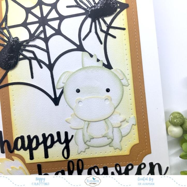 EK Gorman, Elizabeth Craft Designs Halloween Dragon d