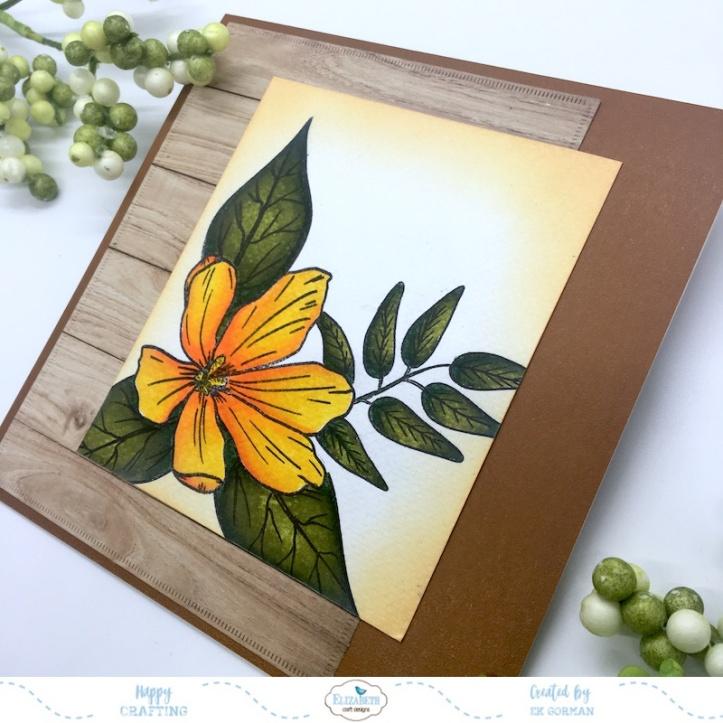 EK Gorman, Elizabeth Craft Designs, Yellow Flower b