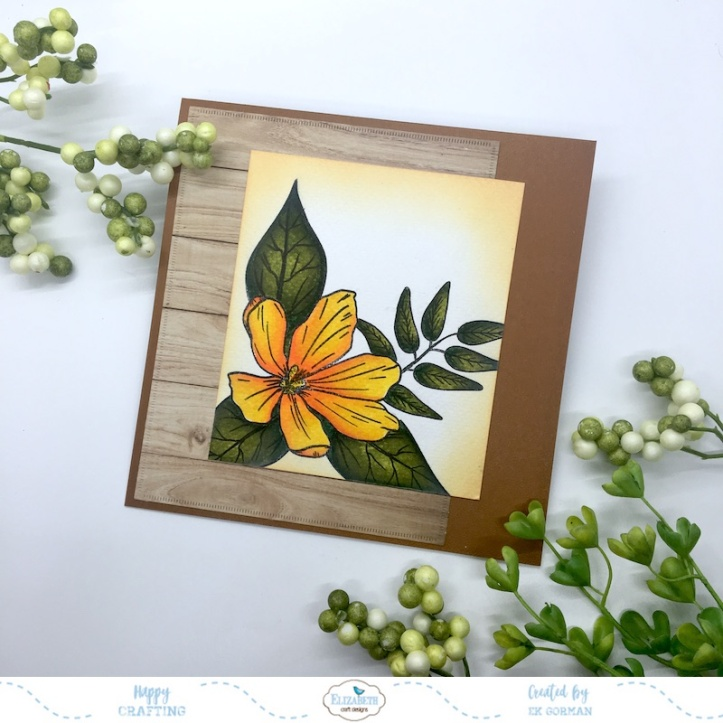 EK Gorman, Elizabeth Craft Designs, Yellow Flower c