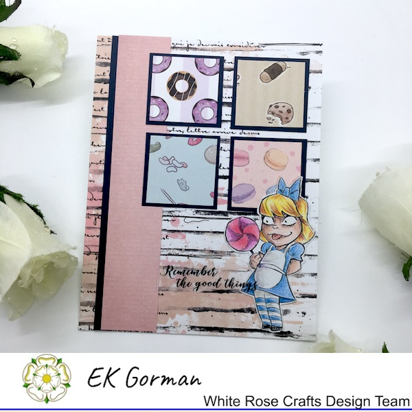 EK Gorman, White Rose Crafts, August Sketch a