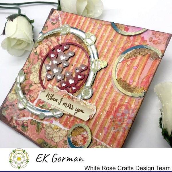 EK Gorman WHite Rose Crafts, mixed media b