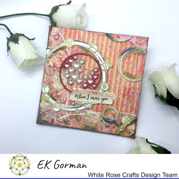EK Gorman WHite Rose Crafts, mixed media c